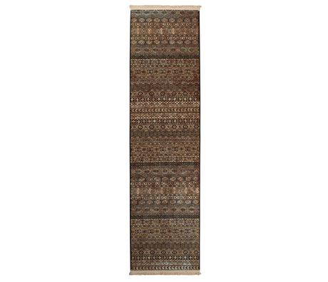 Dutchbone Tapis Shisha brun textile caverne 67X245cm
