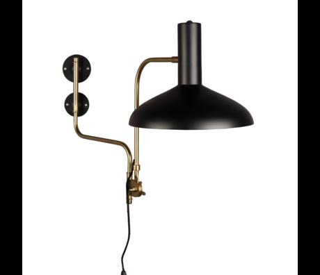 Dutchbone Applique Devi laiton noir métal doré 29x70x49cm
