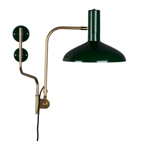 Dutchbone Wall lamp Devi green brass gold metal 29x70x49cm