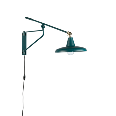 Dutchbone Wall lamp Hector teal blue metal 26x93x30cm