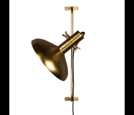 Dutchbone Wall lamp Karish brass gold metal 28.5x40.5x61 cm