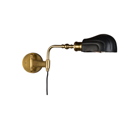 Dutchbone Wall lamp Lily black brass gold metal 12x56x21.5cm