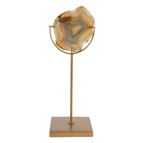 Dutchbone Photophore Gem en laiton jaune doré métal 10x10x30cm