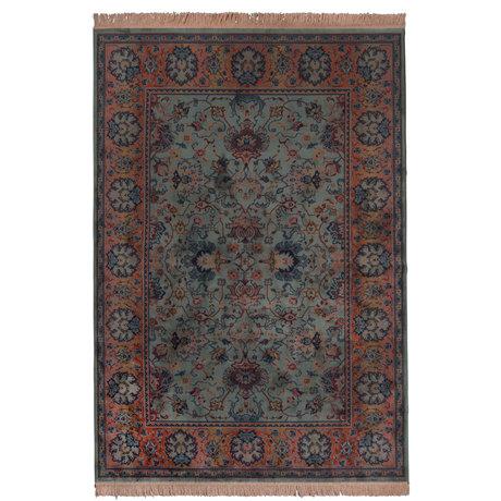 Dutchbone Tapis prière vieux textile vert 200X300cm