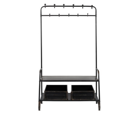 DUTCHBONE Garderobe Rack Lucius schwarz Metall 104x41x182cm