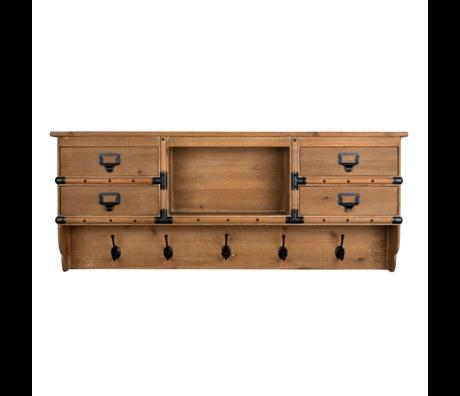 Dutchbone Garderobe Amador braun Holz 118x16x47cm