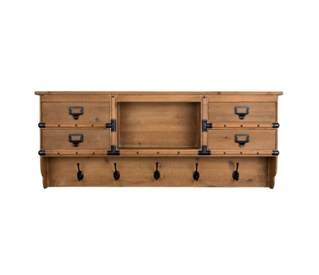 Dutchbone Porte manteau Amador bois brun 118x16x47cm