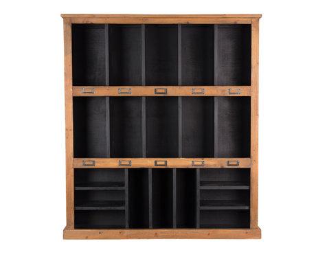 Dutchbone Rustic wall cupboard black brown wood 97x20x110cm