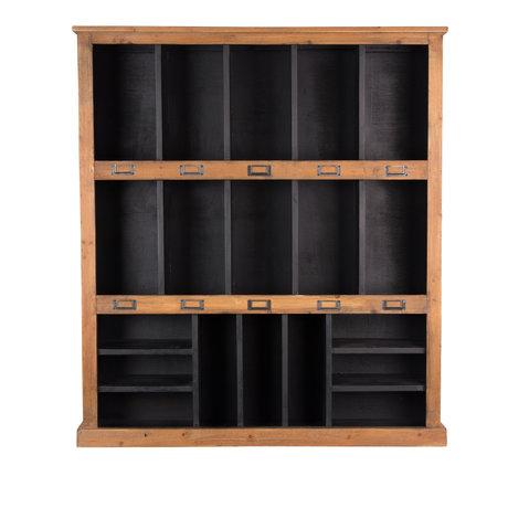 Dutchbone Placard rustique noir bois brun 97x20x110cm