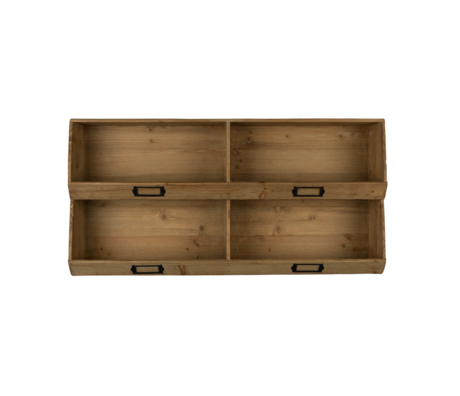 Dutchbone Wall cabinet Lit brown wood 80x16x40cm