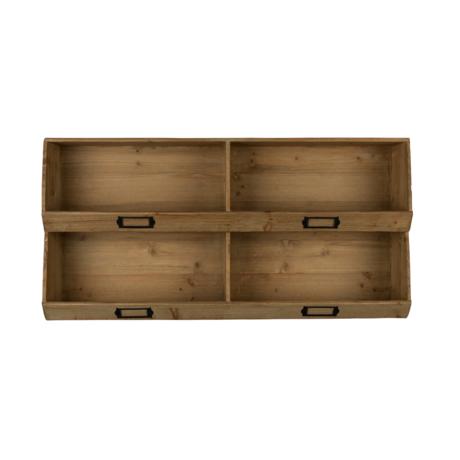 DUTCHBONE Wandschrank Lit braunes Holz 80x16x40cm