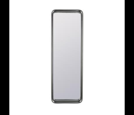 Dutchbone Miroir en métal enduit de poudre grise Bradley 40x10x120cm