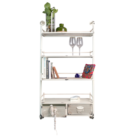 Dutchbone Barber metal rack 69x30x125cm