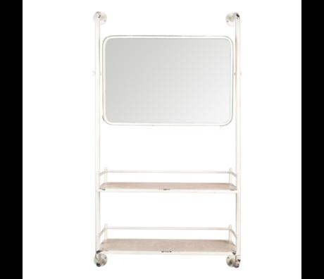 Dutchbone Wandrek met spiegel Barber mirror metaal 30x70x120cm
