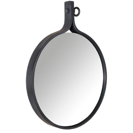 Dutchbone Mirror Attractif '24 round powder coated metal 60x72x4cm