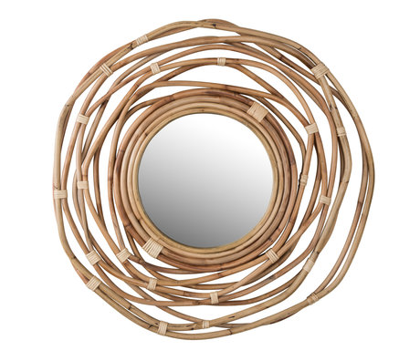 Dutchbone Kubu miroir rond en rotin ø75x3.2cm