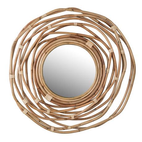 Dutchbone Spiegel Kubu rond rotan ø75x3,2cm