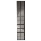 Dutchbone Miroir vintage fenêtre vintage métal debout 37.5x3x178cm