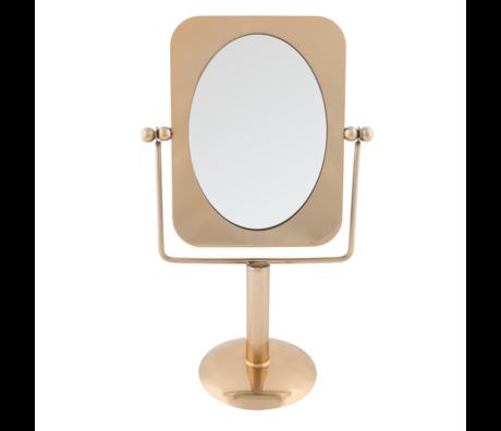 Dutchbone Spiegel Pris Messing Gold Metall 23,7 x 13,3 x 39,5 cm