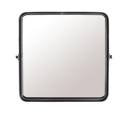 Dutchbone Mirror Poke M dunkelgrau pulverbeschichtetes Metall 40,5 x 8,5 x 40,5 cm