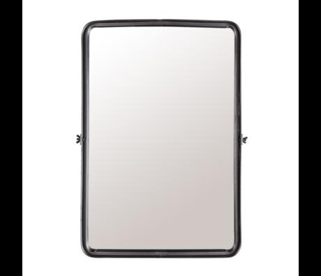 Dutchbone Mirror Poke L dunkelgrau pulverbeschichtetes Metall 40,5x8,5x60cm