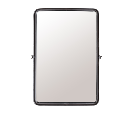 Dutchbone Spiegel Poke L donker grijs gepoedercoat metaal 40,5x8,5x60cm