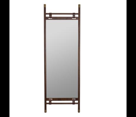 Dutchbone Spiegel Riva donker bruin hout 59,5x3,5x180cm