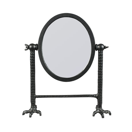 Dutchbone Mirror Falcon black powder-coated aluminum 34x11x41cm