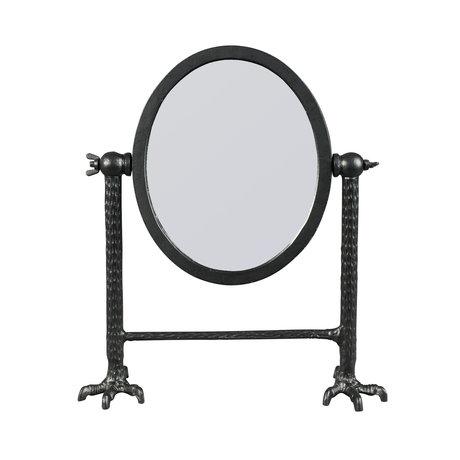 Dutchbone Spiegel Falcon zwart gepoedercoat aluminium 34x11x41cm