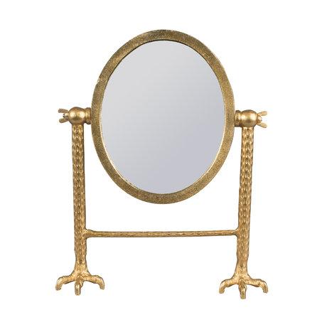 Dutchbone Spiegel Falcon goud gepoedercoat aluminium 34x11x41cm
