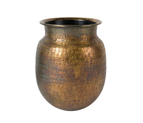 Dutchbone Vase Baha antique brass gold ø24x30cm