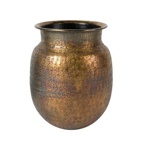 Dutchbone Vase Baha laiton antique doré ø24x30cm
