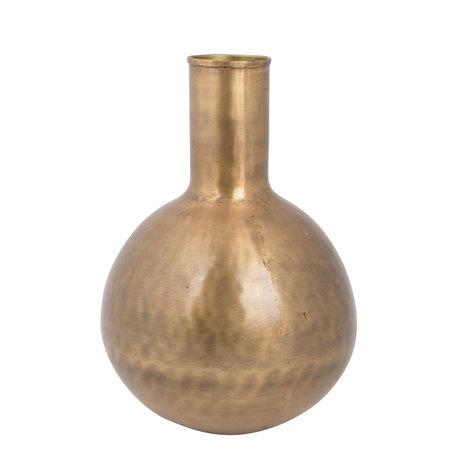 Dutchbone Vase Hari Fat laiton antique doré ø21x30cm