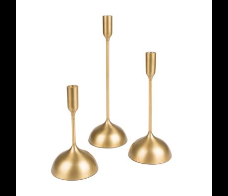 Dutchbone Kandelaar Sesta set van 3 goud aluminium