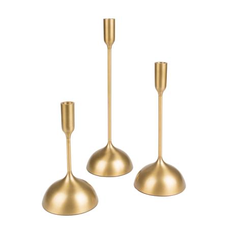 Dutchbone Candlestick Sesta set of 3 gold aluminum