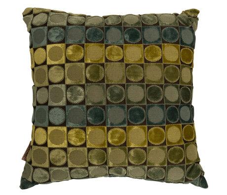 Dutchbone Cushion Ottava green blue textile 45x45cm