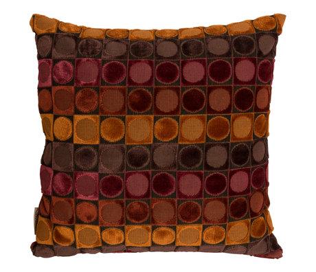 Dutchbone Cushion Ottava red orange textile 45x45cm