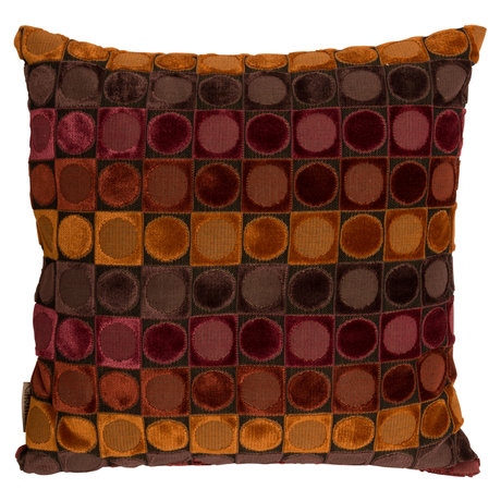 Dutchbone Coussin Ottava rouge orange textile 45x45cm