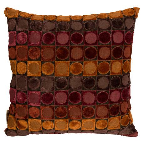 Dutchbone Sierkussen Ottava rood oranje textiel 45x45cm