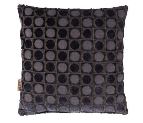 Dutchbone Cushion Ottava dark blue textile 45x45cm