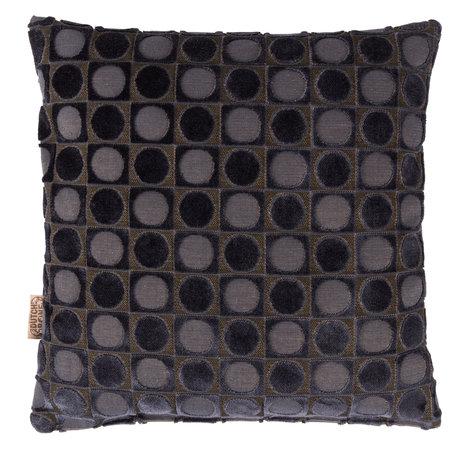 Dutchbone Sierkussen Ottava donker blauw textiel 45x45cm