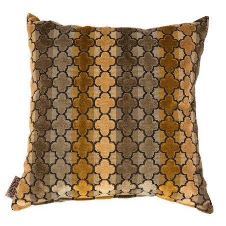 Dutchbone Coussin Automne textile multicolore 45x45cm