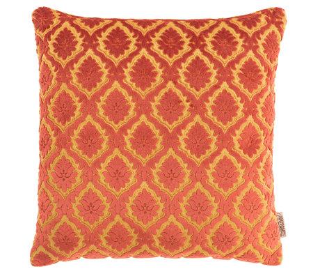 Dutchbone Cushion Glory old red textile 45x45cm