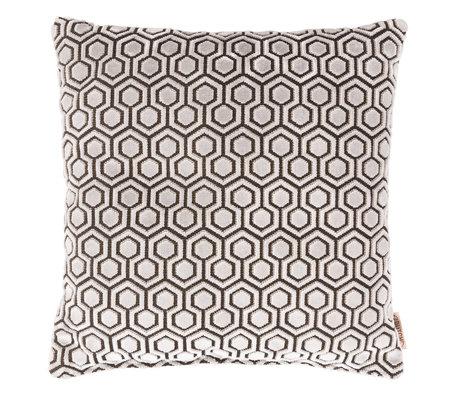 Dutchbone Sierkussen Dean licht grijs textiel 45x45cm