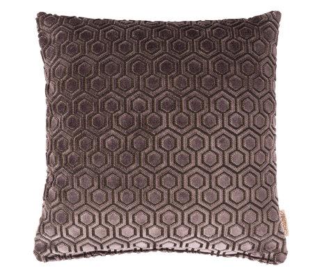 Dutchbone Coussin Dean textile gris foncé 45x45cm