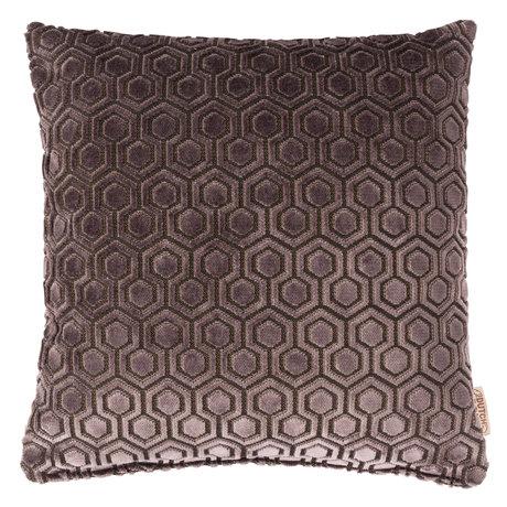 Dutchbone Kissen Dean dunkelgrau Textil 45x45cm