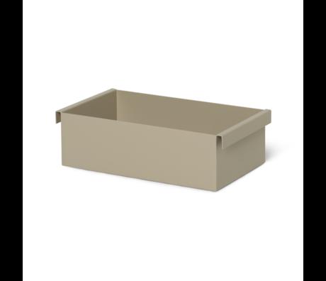 Ferm Living Boite Container Cachemire beige métal 14,7x25,7x7,6 cm