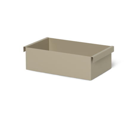 Ferm Living Box Container Kaschmir beige Metall 14,7x25,7x7,6 cm