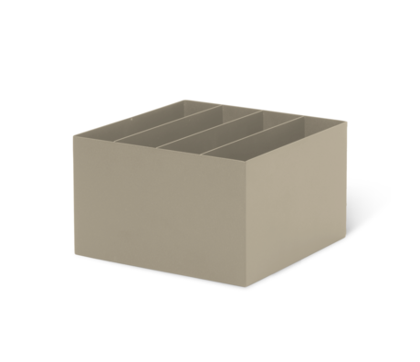 Ferm Living Box Divider Cashmere beige Metall 24x24x14,8 cm
