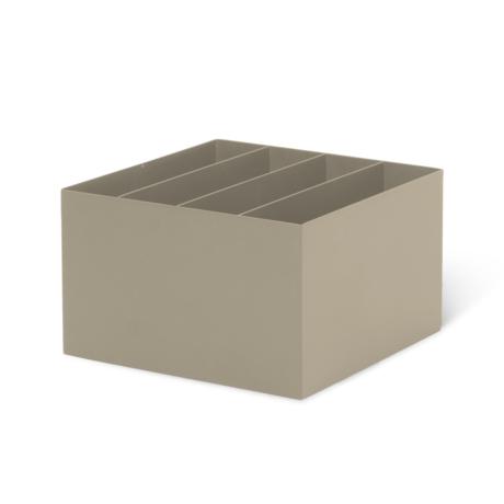 Ferm Living Box Divider Cashmere beige metaal 24x24x14,8cm